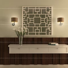 3BHK Interiors :  Dressing room by Fabmodula