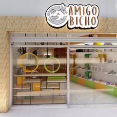 Fachada: Lojas e imóveis comerciais  por TRAIT ARQUITETURA E DESIGN