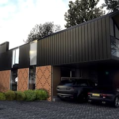 Fachada principal: Casas de estilo  por Gliptica Design