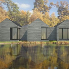 Casas prefabricadas de estilo  por Atelier 72 - Arquitetura, Lda, Moderno