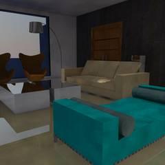 Moradia Sintra 2013: Salas de estar  por Atelier  Ana Leonor Rocha