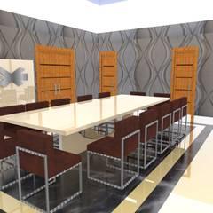Moradia Sintra 2013: Salas de jantar  por Atelier  Ana Leonor Rocha