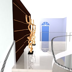 Moradia Sintra 2013: Corredores e halls de entrada  por Atelier  Ana Leonor Rocha