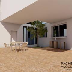 Patio interior: Terrazas de estilo  de Pacheco & Asociados