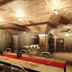 Render: Cantina in stile  di ShoWine