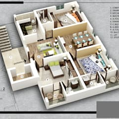 SECTIONAL PLAN :  Houses by KEYSTONE DESIGN STUDIOS