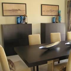 Apartamento Galé 3: Salas de jantar  por Atelier  Ana Leonor Rocha