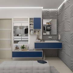 Diseño y decoración de apartamento nuevo: Walk in closet de estilo  por Cindy Castañeda, Moderno