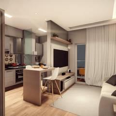 Cocinas pequeñas de estilo  por Vortice Arquitetura
