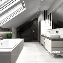 oświetlenie w łazience: styl , w kategorii Łazienka zaprojektowany przez Stylownia Wnętrz
