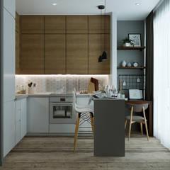 """Квартира в ЖК """"Ландыши"""": Кухни в . Автор – Yurov Interiors"""
