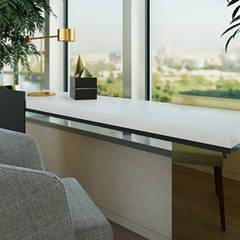 Проект в Штаб-квартире на Мосфильмовской: Рабочие кабинеты в . Автор – Yurov Interiors