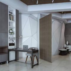 """Апартаменты в бизнес-центре """"Riverdale"""": Рабочие кабинеты в . Автор – Yurov Interiors"""