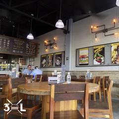 Restaurante 3XL: Restaurantes de estilo  por MoisesMedinaDesign