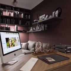 ЖК Видный город: Рабочие кабинеты в . Автор – MBM studio