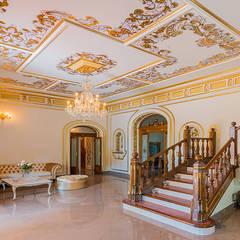 Reforma integral de una casa antigua : Salones de estilo  de LCC, Licitaciones y Contrataciones de Construcción