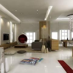 ŞEBNEM MIZRAK  – Bodrum Ev Tasarımı:  tarz Koridor ve Hol, Modern Mermer