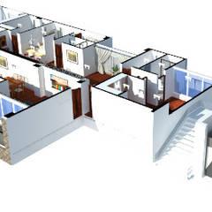 บ้านสำหรับครอบครัว by OBS DISEÑO & CONSTRUCCION.