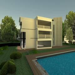 CUBO house: Casas campestres de estilo  por OBS DISEÑO & CONSTRUCCION., Minimalista Concreto reforzado