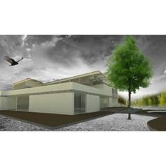 perspectiva : Casas campestres de estilo  por OBS DISEÑO & CONSTRUCCION.