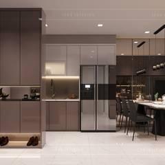 Thiết kế nội thất căn hộ Richstar Novaland - Phong cách hiện đại:  Cửa ra vào by ICON INTERIOR, Hiện đại