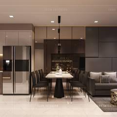 Thiết kế nội thất căn hộ Richstar Novaland - Phong cách hiện đại:  Phòng ăn by ICON INTERIOR
