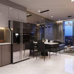 ห้องทานข้าว โดย ICON INTERIOR, โมเดิร์น