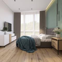 Теплое в холодном : Маленькие спальни в . Автор – AbiStyle