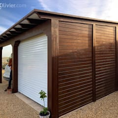 Double Garage by NavarrOlivier, Eclectic Wood Wood effect