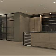 Ontwerp nieuwbouw woning Amersfoort:  Keuken door Studio DEEVIS