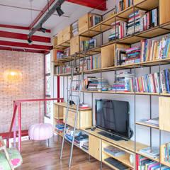 Casa 51 Salas de estar rústicas por C2HA Arquitetos Rústico