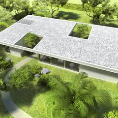 Diseño de Casa en Managua, Nicaragua por SMF Arquitectos: Casas de estilo  por SMF Arquitectos  /  Juan Martín Flores, Enrique Speroni, Gabriel Martinez