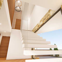 Casa Ferreira e Lourenço: Escadas  por Jesus Correia Arquitecto