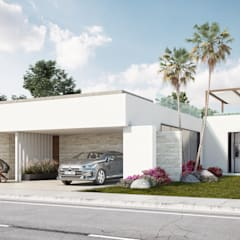 Terrace house by DELTA , Mediterranean Concrete