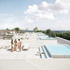 Roof terrace by DELTA ,