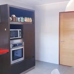 Paredes y piso : Cocinas equipadas de estilo  por SIMPLEMENTE AMBIENTE mobiliarios