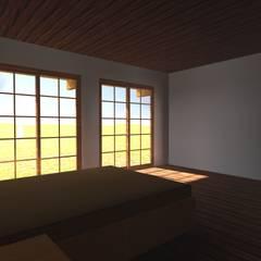 VIVIENDA RURAL - PARCELAS SANTA JULIA MELIPILLA: Dormitorios de estilo  por Vicente Espinoza M. - Arquitecto