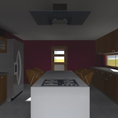 VIVIENDA RURAL - PARCELAS SANTA JULIA MELIPILLA: Cocinas de estilo  por Vicente Espinoza M. - Arquitecto ,