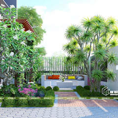 Front garden by UK DESIGN STUDIO - KIẾN TRÚC UK, Asian