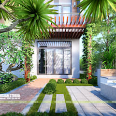 Front yard by UK DESIGN STUDIO - KIẾN TRÚC UK, Asian