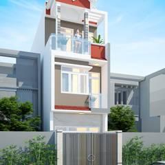 Wooden windows by Công ty cổ phần tư vấn kiến trúc xây dựng Nam Long