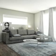 Un appartamento all'insegna del design: Soggiorno in stile  di Bfarredamenti