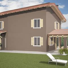 work in progress: Casa unifamiliare in stile  di Arch. Francesco Antoniazza - Dimore di Lago