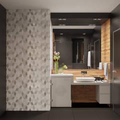 Black Style Contemporary Small Bathroom Ванная в стиле лофт от Борис Ступак Лофт Камень