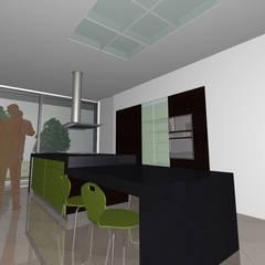 Moradia S+S: Cozinhas  por Santos Delgado Arquitectura & Design