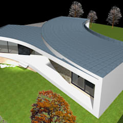 Telhados planos  por Santos Delgado Arquitectura & Design