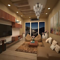 Living Area Design:  Living room by Vinra Interiors
