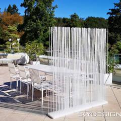 Schöner Wohnen Sichtschutz Terrasse Ideen von Skydesign:  Terrasse von www.skydesign.news - Raumteiler aus Berlin