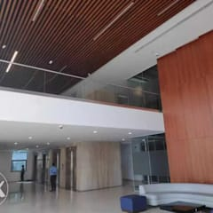 Glass Railing concepts:  Commercial Spaces by HNR INFRA