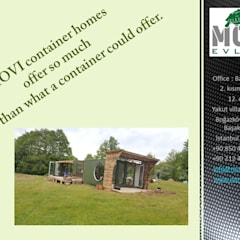 Casas de madera de estilo  por MOVİ evleri